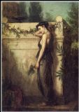Waterhouse, John William: Gone, but not Forgotten. Fine Art Print/Poster. Sizes: A4/A3/A2/A1 (001402)